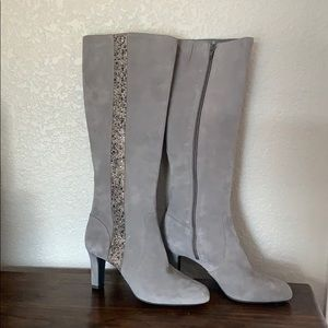 Alex Marie Gray Suede Boots